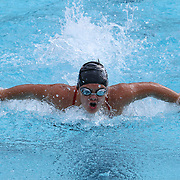 Swimmer Margaret Daly (12) competes in the 100 meter individual medley during the Summer Swim league championships finials Saturday, July. 17, 2015 at Western YMCA in Wilmington, DEL