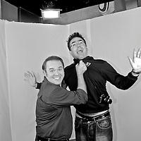 Spanish photographer KIKE CALVO with Alex Medela, anchor of Tu Man?ana