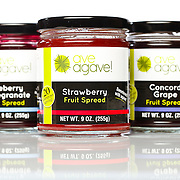 SHOT 1/27/11 12:04:33 PM - Ave Agave! naturally sweetened gourmet foods products. Currently the Denver, Co. based company produces a strawberry, blueberry-pomegranate and concord grape fruit spreads. (Photo by Marc Piscotty / © 2011)