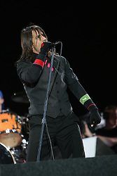 Anthony Kiedis of the Red Hot Chilli Peppers, headliners on the main stage at T in the Park, Sunday 2006..©Michael Schofield..