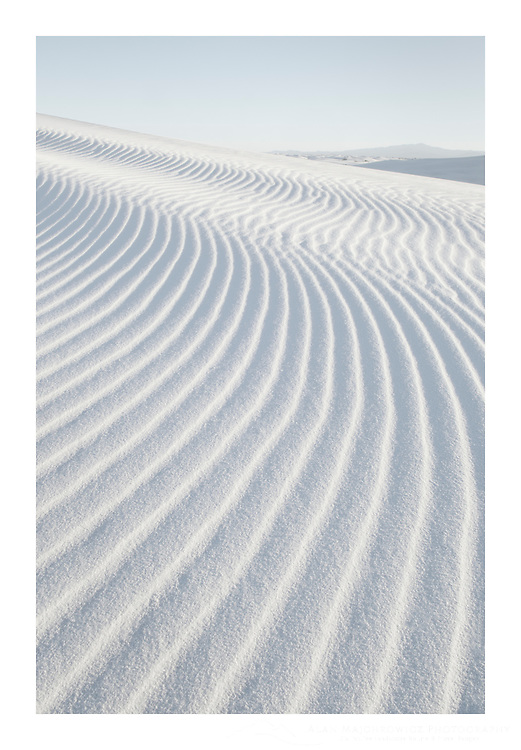 Ripple patterns in gypsum sand dunes, White Sands National Monument New Mexico