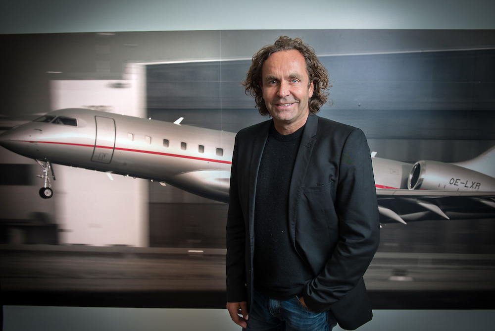 Thomas Flohr Owner Of VistaJet Photographed In His Office In Mayfair Londo