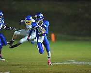 Water Valley's T.T. Person (3) vs. Mantachie in high school football action in Water Valley, Miss. on Friday, October 26, 2012.