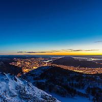 Sunset from Blåmanen a winter day.