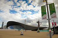 LONDON, ENGLAND - Wednesday 7 May 2014, a general view of the London Aquatic Centre inside the Queen Elizabeth Olympic Park in Stratford, London, host city of the London 2012 Olympic Games<br /> Photo by Roger Sedres/ImageSA