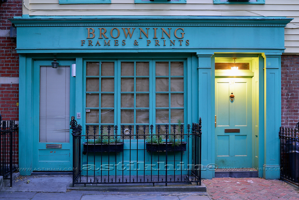 Browning Frames & Print Shop in Brooklyn.