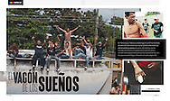 illustrated feature for Domingo on central american migrants in Tenosique, suplemment of El Universal newspaper, march 2012.