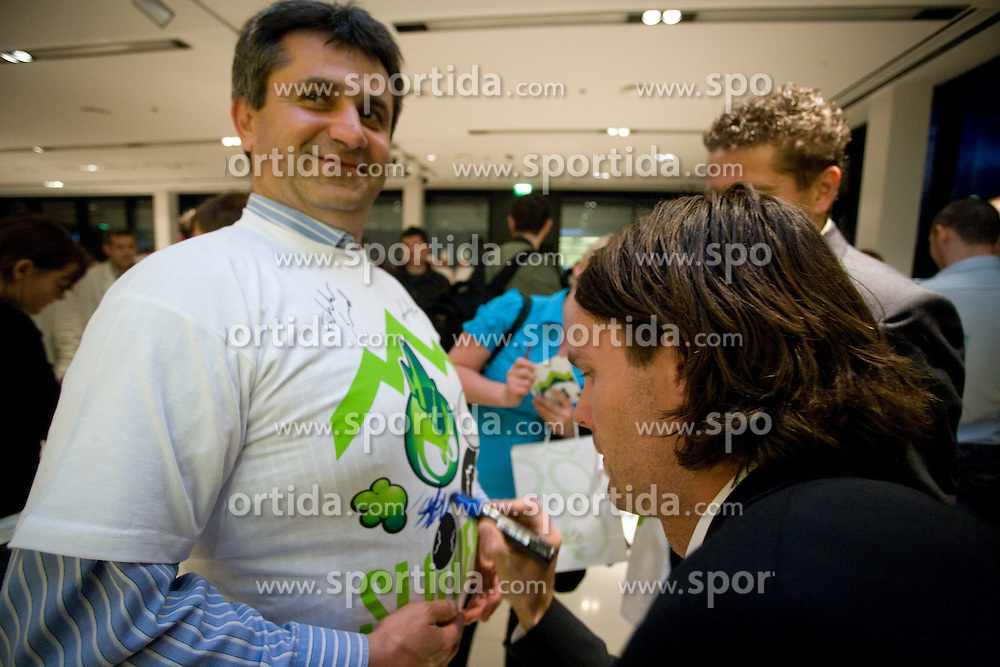 Marko Suler at official presentation of Slovenian National Football team for World Cup 2010 South Africa, on May 21, 2010 in Congress Center Brdo at Kranj, Slovenia. (Photo by Vid Ponikvar / Sportida)