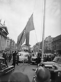 1957 Are Lingus 21st Anniversary Flag hoisted on O'Connell St.