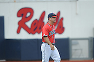 Ole Miss coach Mike Bianco (5) vs. Mississippi State at Oxford-University Stadium in Oxford, Miss. on Saturday, May 11, 2013. Ole Miss won 3-0.