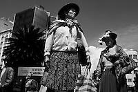 La Paz - persone nel centro della citta'