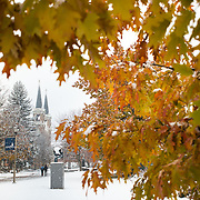 November snow at Gonzaga. (Photo by Gonzaga University.)