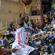 Delaware 87ers Guard Nolan Smith (10) drives towards the basket in the first half of a NBA D-league regular season basketball game between the Delaware 87ers (76ers) and the Sioux Falls Skyforce (Miami Heat) Tuesday, Dec. 2, 2014 at The Bob Carpenter Sports Convocation Center in Newark, DEL