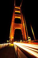 Light streaks from traffic on the Golden Gate Bridge