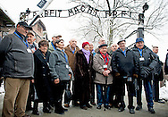 26-1-2015 - auschwitz - Familymember and the surivors of Auswitz one day before  the 70 years commemoration in Camp auschwitz Birkenau in poland  . COPYRICHT ROBIN UTRECHT