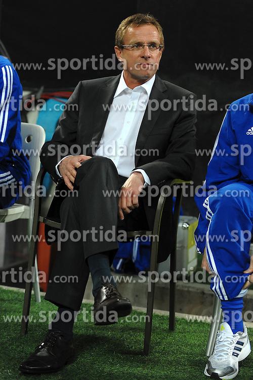 05.04.2011, Giuseppe Meazza, Mailand, ITA, UEFA CL Viertelfinale, Hinspiel, Inter Mailand (ITA) vs FC Schalke 04 (GER), im Bild Ralf RANGNICK., PhotoCredit: EXPA/ InsideFoto/ Andrea Staccioli         +++++ ATTENTION - FOR AUSTRIA/AUT, SLOVENIA/SLO, SERBIA/SRB an CROATIA/CRO CLIENT ONLY +++++