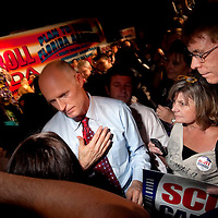 TAMPA, FL -- October 25, 2010 -- Republican candidate for governor Rick Scott greet supporters at a post-debate rally in Tampa, Fla., on Monday, September 25, 2010.  Scott was kicking off his final week of campaigning in the heated race for Florida Governor against Democrat Alex Sink.
