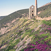Towanroath engine house, Wheal Coates, St Agnes, Cornwall, UK