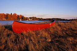 A canoe on an island near New Castle.  New Castle, NH