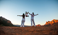 Danil & Irina Litvin with Leah Angelica Litvin at Bell Rock, Sedona - Arizona