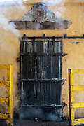 Steam escaping door of stone oven used to cook agave plants for 36 hours, Tequlia, Mexico hours, Tequlia, Mexico