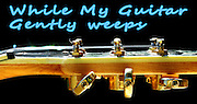 Famous quotes series: While my guitar gently weeps. Music is my passion