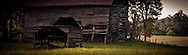 A barn leans a little closer to collapse. Rowan Co. NC