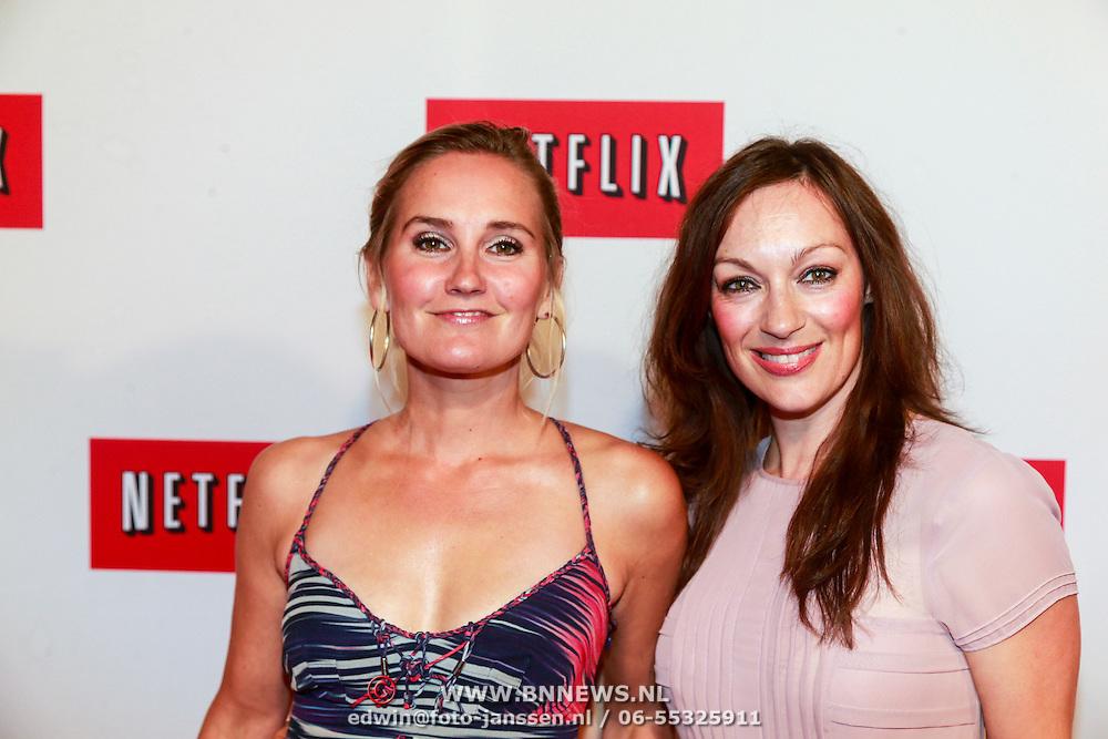 NLD/Amsterdam/20130911 - Lancering Netflix in Nederland, Peggy Vrijens en Maryanne van Reeden