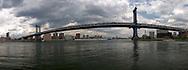 Reflection of Manhattan Bridge.