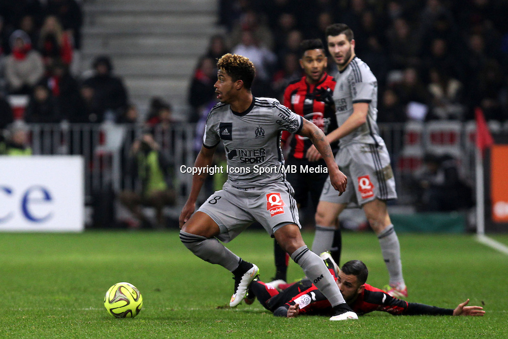 Mario LEMINA / Valentin EYSSERIC  - 23.01.2015 - Nice / Marseille - 22eme journee de Ligue 1<br />