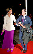1-2-2014  ROTTERDAM NETHERLANDS  Prince Maurits and Marilene arrives  for the celebration party for Queen Beatrix to thank fed for being 33 years the Queen of the Netherlands COPYRIGHT ROBIN UTRECHT