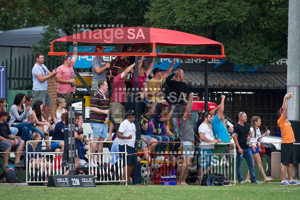 JOHANNESBURG, SOUTH AFRICA - Saturday 14 March 2015, Spectators  during the fourth round match of the Cell C Community Cup between Vaseline Wanderers and One Logix United Bulk Villagers Worcester at Kent Park, Wanderers Cricket Club, Johannesburg<br /> Photo by Craig Nieuwenhuizen/ ImageSA/SARU