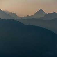 More smokey Squamish views from the top of the Sea to Sky Gondola in July.