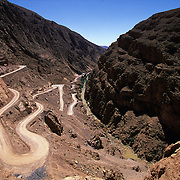 Tizi-n-tichka mountain pass. Atlas mountains, Morocco.