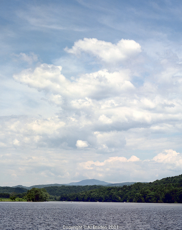 Connecticut River, Charlestown, NH looking north to Mt. Ascutney.