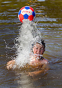 19-7-16<br /> <br /> Casper Konopka aged 12 from Thomastown pictured jumping into the River Nore at the Weir Pool in Thomastown Co. Kilkenny yesterday.<br /> Picture Dylan Vaughan