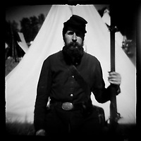 "On October 8, 1862, 18,000 Confederates clashed with 20,000 Union troops at Perryville, killing or wounding 8,000 soldiers in what became KentuckyÕs largest Civil War battle. 140 years later, Perryville was the site of the National Reenactment with 5,000 reenactors reliving the experience. dnads ""Charge to Battle"""
