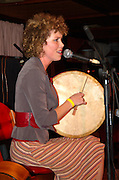 Israel, Kibbutz Ginosar, Aoife Clancy live on stage. Traditional Irish folk music at the Jacob's Ladder Festival December 2006