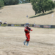 John Shafe (#5) checks out the start line as he warms up for Pro Race at the Worcs Round #5 - Zaca Station MX Park, Los Olivos CA, May 4-6, 2007