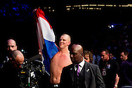 8-5-2016 ROTTERDAM - Mixed Martial Arts - UFC Fight Night - Stefan Struve v. Bigfoot Silva 8/5/16 - Stefan Struve celebrates his victory over Bigfoot Silva. in ahoy rotterdam COPYRIGHT ROBIN UTRECHT