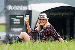 Rebecca Shewan, Rockness fan..Rockness, Friday 11th June..Pic ©2010 Michael Schofield. All Rights Reserved.