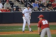Ole Miss' Matt Smith (16) takes a lead off of third at Oxford-University Stadium in Oxford, Miss. on Friday, March 18, 2011. Ole Miss won 4-0. The Rebels are 15-4 on the season and 1-0 in SEC play.  (AP Photo/Oxford Eagle, Bruce Newman)