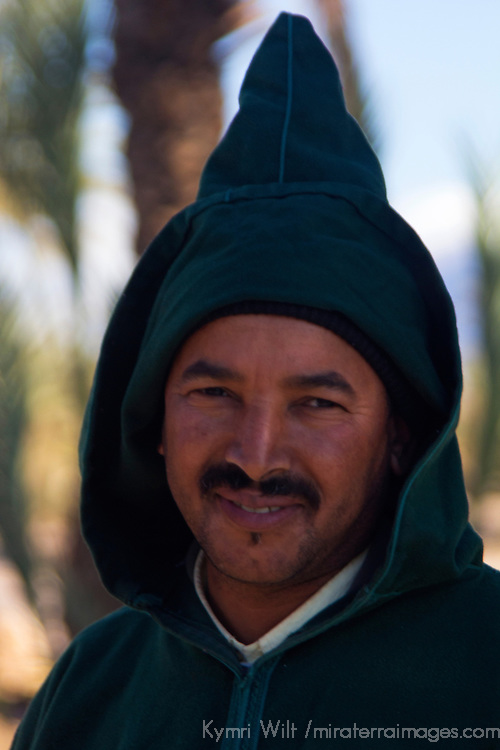 Africa, Morocco, Skoura. Local Berber villager near Skoura.