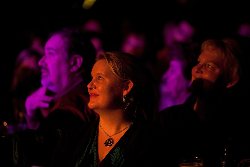 The crowd listens to tenor Joseph Calleja performing at Le Poisson Rouge on October 24, 2011.