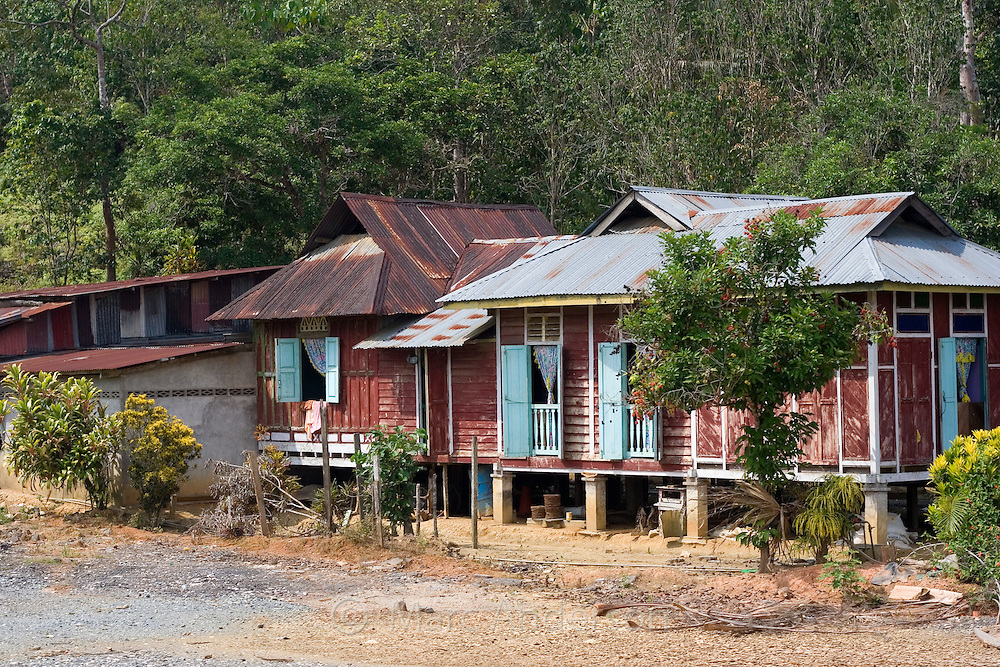 Typical houses in rural Malaysia.