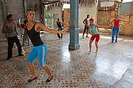 """Dance practice at Compañía Folclórica """"La Campana"""", Holguin, Cuba."""