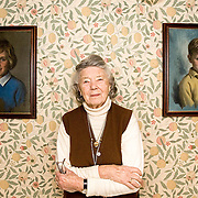 Rosamunde Pilcher at her home in Longforgan near Dundee  Scotland 17-01-08