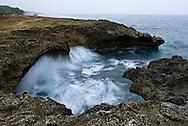 Coastal erosion on the coast of Little Liuqiu, Taiwan.