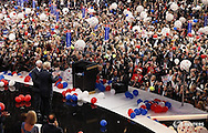 U.S. Republican Presidential Nominee Donald Trump and Vice-Presidential Nominee Indiana Governor Mike Pence wave to supporters at the Republican National Convention in Cleveland, Ohio, U.S. July 21, 2016.  REUTERS/Rick Wilking   - RTSJ4OG