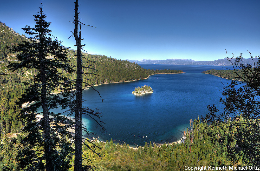 A Shot of Emerald Bay adjacent to Lake Tahoe in Northern California.